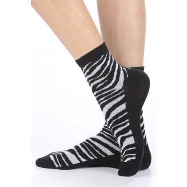 Calza donna corta Zebra