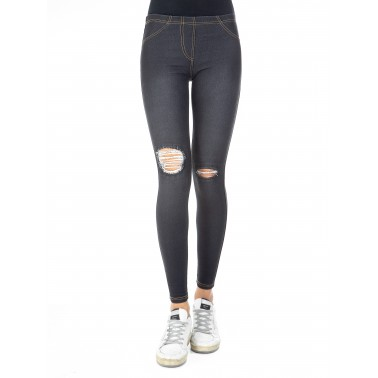 Leggings donna jeans wash