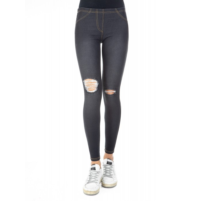Leggings donna jeans wash